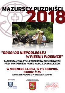 MAZURSCY PUZONIŚCI 2018 - DROGI DO NIEPODLEGŁEJ W PIEŚNI I PIOSENCE @ Fontanna na pl. przy ul. Czarnieckiego