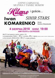 GYPSY CARNAVAL - HITANO I GOŚCIE (IWAN KOMARENKO, SIHIR STARS, GAJA) @ Amfiteatr w Ostródzie