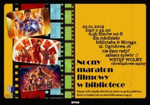 NOCNY MARATON FILMOWY W MORĄSKIEJ BIBLIOTECE @ Miejska Biblioteka Publiczna