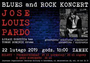 JOSE LOUIS PARDO - BLUES AND ROCK KONCERT @ ul. Mickiewicza 22, Zamek, Sala Reprezentacyjna