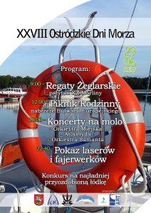 XXVIII OSTRÓDZKIE DNI MORZA @ Molo na Jeziorze Drwęckim, Bulwar Europejski, Jezioro Drwęckie