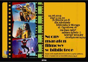 NOCNY MARATON FILMOWY W MORĄSKIEJ BIBLIOTECE @ Miejska Biblioteka Publiczna w Morągu