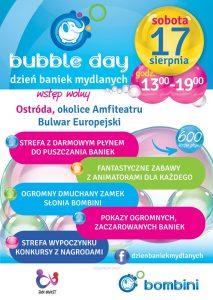 BUBBLE DAY-DZIEŃ BANIEK MYDLANYCH NA BULWARZE EUROPEJSKIM W OSTRÓDZIE @ Bulwar Europejski nad Jeziorem Drwęckim, okolice amfiteatru