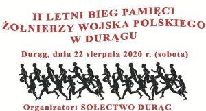 II LETNI BIEG PAMIĘCI ŻOŁNIERZY WOJSKA POLSKIEGO W DURĄGU (GMINA OSTRÓDA) @ plac przy remizie strażackiej, Durąg