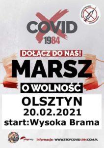 """""""MARSZ O WOLNOŚĆ"""" W OLSZTYNIE @ Wysoka Brama"""